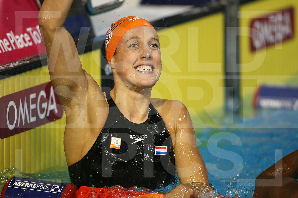 12th Fina World Swimming Championships Melbourne, 2007, 30th March. Marleen Veldhuis win silver in the 100m freestyle final..fotografie: frank uijlenbroek©2007Grant Treeby ..