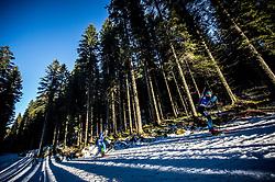 Sergey Bocharnikov (BLR) and Emilien Jacquelin (FRA) in action during the Men 10km Sprint at day 6 of IBU Biathlon World Cup 2018/19 Pokljuka, on December 7, 2018 in Rudno polje, Pokljuka, Pokljuka, Slovenia. Photo by Vid Ponikvar / Sportida