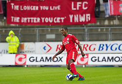 MOLDE, NORWAY - Wednesday, September 7, 2011: Liverpool's Andre Wisdom in action against Molde during the second NextGen Series Group 2 match at Aker Stadion. (Photo by Vegard Grott/Propaganda)