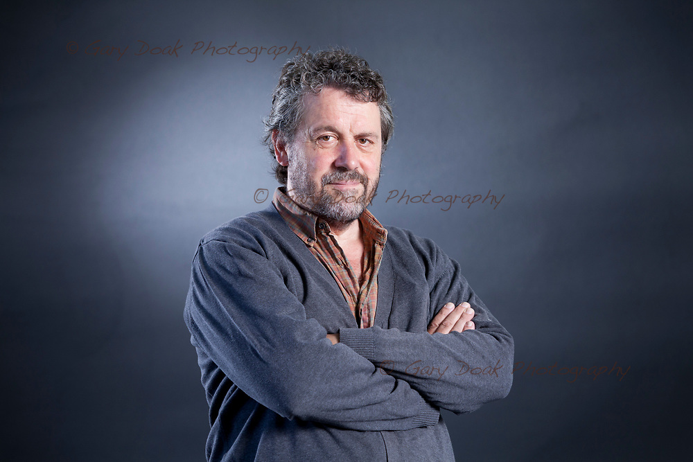 Edinburgh, UK. 12th August 2017. Dominic Dromgoole, the English theatre director and writer, appearing at the Edinburgh International Book Festival. <br />
