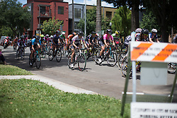 Mara Abbott (USA) of Wiggle Hi5 Cycling Team rides mid-pack during the fourth, 70 km road race stage of the Amgen Tour of California - a stage race in California, United States on May 22, 2016 in Sacramento, CA.