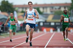 BOUKHALFA Allel, SAFRONOV Dmitrii, MOKGALAGADI Teboho, ALG, RUS, RSA, 100m, T35, 2013 IPC Athletics World Championships, Lyon, France