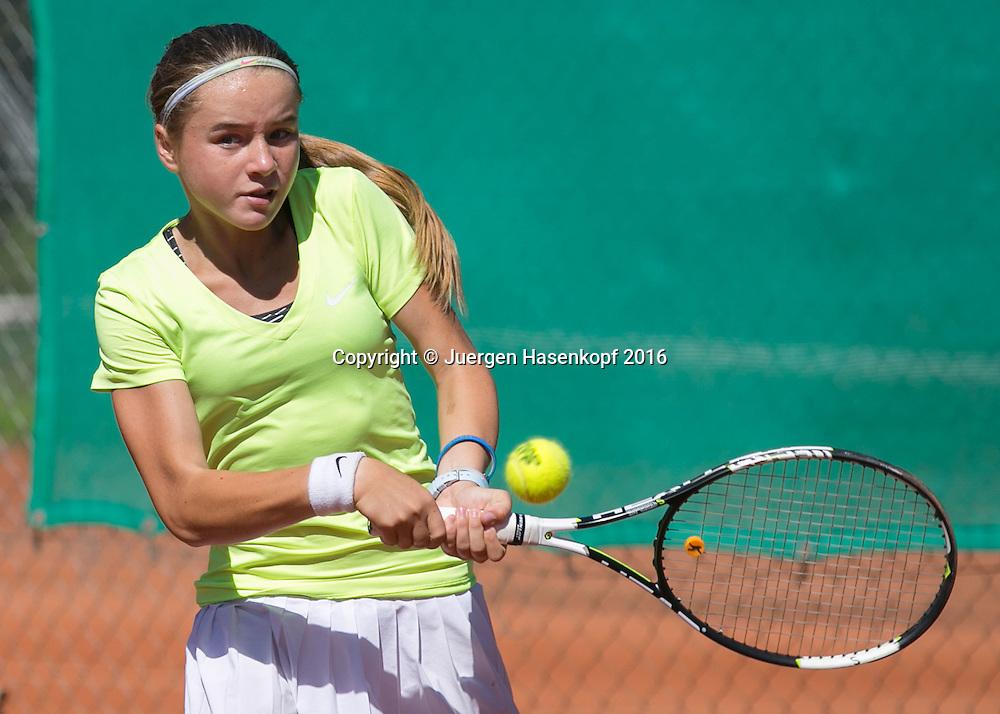 Tennis Europe-Bavarian Junior Open, Finale GS14, Viktoriya Kanapatskaya (BLR)<br /> <br /> Tennis - Bavarian Junior Open 2016 - Tennis Europe Junior Tour -  SC Eching - Eching - Bayern - Germany  - 13 August 2016. <br /> &copy; Juergen Hasenkopf