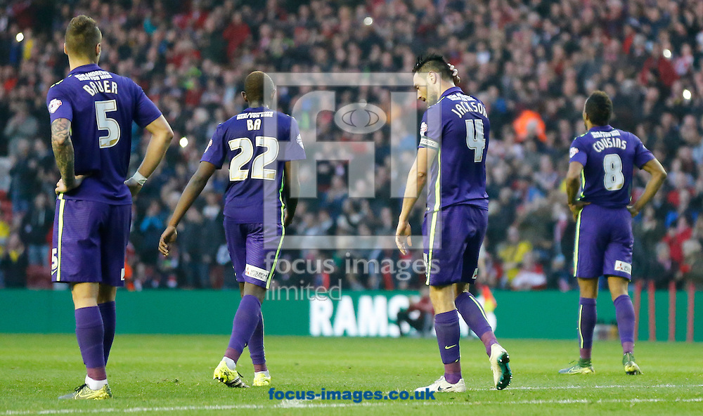 Charlton Athletic react to conceding a second during the Sky Bet Championship match at the Riverside Stadium, Middlesbrough<br /> Picture by Simon Moore/Focus Images Ltd 07807 671782<br /> 31/10/2015