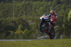 February 7, 2019 - Sepang, Malaysia - Alma Pramac Racing's rider Jack Miller of Australia in action during the second day of the 2019 MotoGP pre-season testing at Sepang International Circuit February 7, 2019. (Credit Image: © Zahim Mohd/NurPhoto via ZUMA Press)