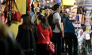 Temple Street Night Market, Mong Kok, Friday, March 27, 2015. (TREVOR HAGAN)