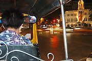 Bangkok at night while riding the local transport