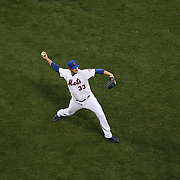 Pitcher Matt Harvey, New York Mets, warming up before the New York Mets Vs Philadelphia Phillies MLB regular season baseball game at Citi Field, Queens, New York. USA. 14th April 2015. Photo Tim Clayton