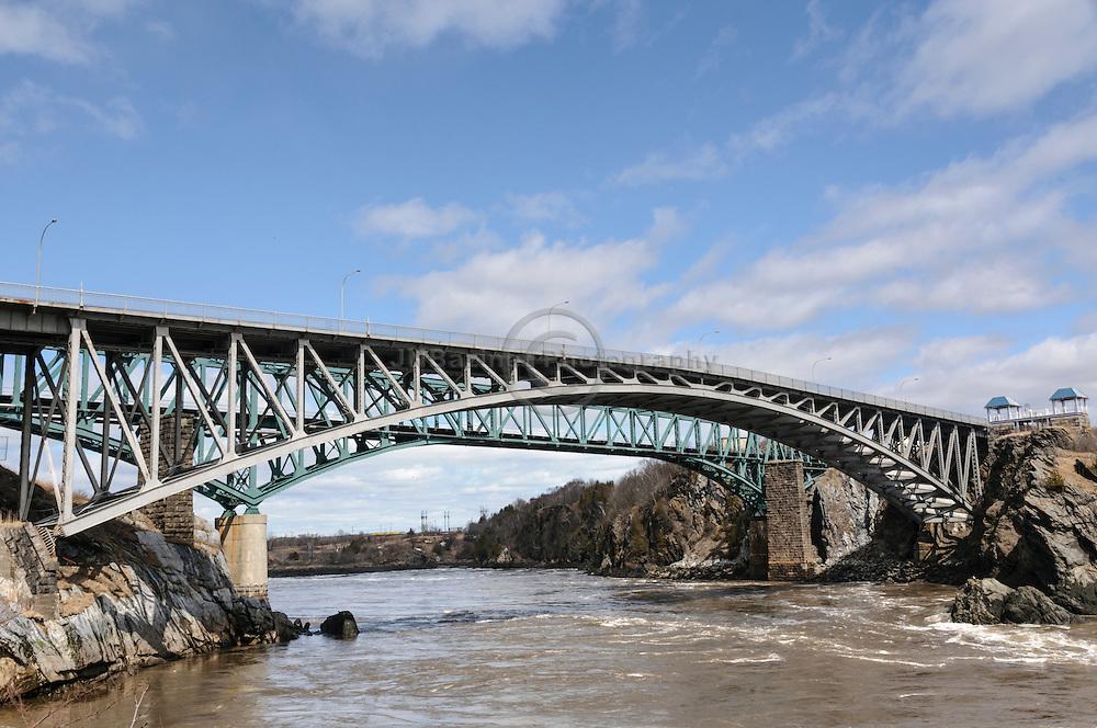Bridge over St-John river and reversing falls - New Brunswick, Canada