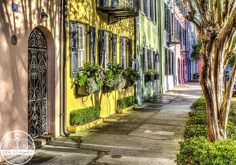 Rainbow Row on East Bay Street.