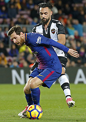 January 7, 2018 - Barcelona, Catalonia, Spain - Leo Messi and Ivi  during the Spanish league football match FC Barcelona vs Levante UD at the Camp Nou stadium in Barcelona on January 7, 2018. (Credit Image: © Joan Valls/NurPhoto via ZUMA Press)