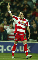 Photo: Aidan Ellis.<br /> Doncaster Rovers v Aston Villa. Carling Cup. 29/11/2005.<br /> Doncaster's Michael McIndoe celebrates his goal the first of the game