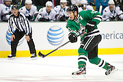 DALLAS, TX - OCTOBER 17:  Ray Whitney #13 of the Dallas Stars takes a shot on goal against the San Jose Sharks on October 17, 2013 at the American Airlines Center in Dallas, Texas.  (Photo by Cooper Neill/Getty Images) *** Local Caption *** Ray Whitney