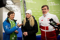 Minister of Education, Science, and Sport, Maja Makovec Brencic, Janica Kostelic and ... during Ski Flying Hill Individual Competition at Day 4 of FIS Ski Jumping World Cup Final 2018, on March 25, 2018 in Planica, Ratece, Slovenia. Photo by Urban Urbanc / Sportida