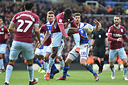 Aston Villa defender (on loan from Wolverhampton Wanderers) Kortney Hause (30) on defensive duties during the EFL Sky Bet Championship match between Birmingham City and Aston Villa at St Andrews, Birmingham, England on 10 March 2019.