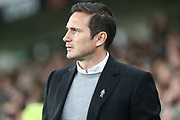 Derby County manager Frank Lampard during the EFL Sky Bet Championship match between Derby County and Millwall at the Pride Park, Derby, England on 20 February 2019.