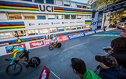 LUTSENKO Alexey of Ukraine and TRATNIK Jan of Slovenia during the Men Elite Individual Time Trial a 52.5km race from Rattenberg to Innsbruck 582m at the 91st UCI Road World Championships 2018 / ITT / RWC / on September 26, 2018 in Innsbruck , Austria.Photo by Vid Ponikvar / Sportida