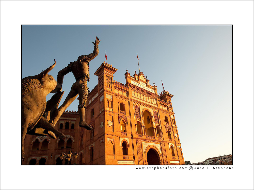 Dawn at Plaza de Toros (bullring), Las Ventas, Madrid, Spain