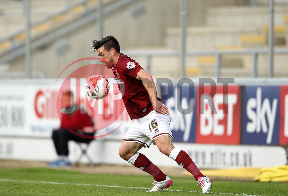 David Buchanan of Northampton Town - Mandatory byline: Robbie Stephenson/JMP - 07966 386802 - 10/10/2015 - FOOTBALL - Sixfields Stadium - Northampton, England - Northampton Town v Hartlepool - Sky Bet League Two