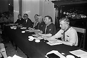 24/03/1963<br /> 03/24/1963<br /> 24 March 1963<br /> Scout leaders conference at the Shelbourne Hotel, Dublin. Photographed at the 2nd Annual National Conference of catholic Scout Leaders and Chaplins were (l-r): P. Cassidy, M.A., Vice President; J. McGrath, Director of Organisation; C.J. Murphy, Chief Scout; S. Durkam, National Commissioner, who presided and J. Nolan, National Secretary.