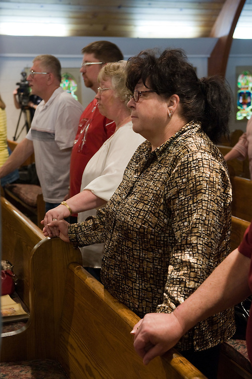 A vigil and prayer service is held at St. Joseph Catholic Church in Whitesville, WV on Tuesday, April 6, 2010 in remembrance of the fallen miners and their families from the explosion at the Performance Coal Mine nearby.  25 are dead and 4 are still missing.