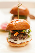 The Brickhouse Run, Lamb sliders, house-made pickles, cilantro, raita sauce