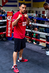 "SANTA MONICA, CA - JUN 3: Pro Boxers Robert ""The Ghost"" Guerrero (32-3-1, 18 KOs) and Aron Martinez (19-3-1, 4 KOs) attend their media workout at the Wild Card West Boxing Gym, in Santa Monica, CA for their upcoming bout on Saturday afternoon, June 6 as Premier Boxing Champions (PBC) on NBC comes to StubHub Center in Carson, Calif. The broadcast begins at 3 p.m. ET/noon PT. 2015, June 3. Byline, credit, TV usage, web usage or linkback must read SILVEXPHOTO.COM. Failure to byline correctly will incur double the agreed fee. Tel: +1 714 504 6870."