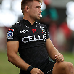 Johan Deysel of the Cell C Sharks during the Super Rugby match between the Cell C Sharks and the Western Force at Growthpoint Kings Park on May 06, 2017 in Durban, South Africa. (Photo by Steve Haag)