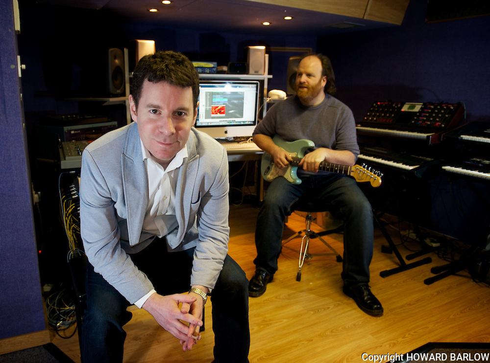 Media City 30-3-2013.Steve Berman the composer works with Jasper Wilkinson