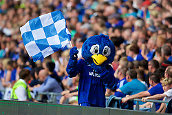 CARDIFF, WALES - Sunday, September 2, 2018: Cardiff City's bluebird mascot during the FA Premier League match between Cardiff City FC and Arsenal FC at the Cardiff City Stadium. (Pic by David Rawcliffe/Propaganda)