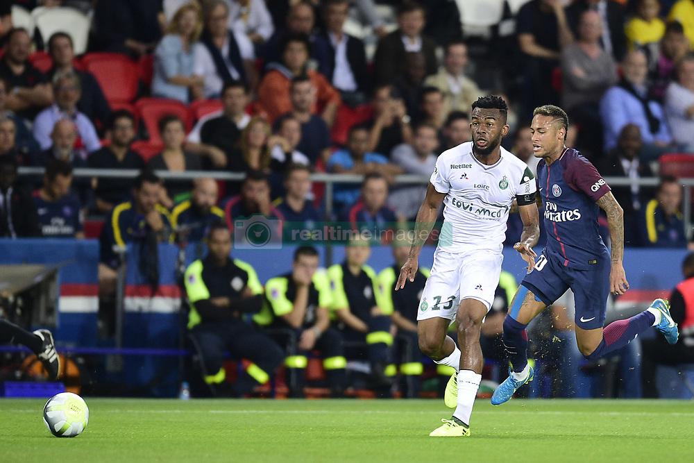 August 25, 2017 - Paris, France, France - Neymar Jr (PSG) vs MAIGA Habib  (Credit Image: © Panoramic via ZUMA Press)