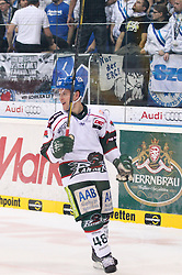 30.12.2013, Saturn-Arena, Ingolstadt, GER, DEL, ERC Ingolstadt vs Augsburger Panther, 33. Runde, im Bild Torjubel von Mike CONNOLLY #48 (Augsburger Panther) // during germans DEL Icehockey League 33th round match between ERC Ingolstadt and Augsburger Panther at the Saturn-Arena in Ingolstadt, Germany on 2013/12/30. EXPA Pictures © 2014, PhotoCredit: EXPA/ Eibner-Pressefoto/ Kolbert<br /> <br /> *****ATTENTION - OUT of GER*****