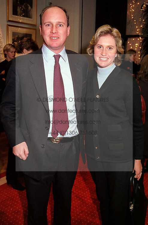 MR & MRS RANDOLPH CHURCHILL he is the great grandson of War Leader Winston Churchill, at a party in London on 8th November 2000.OIW 21