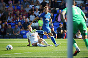 Peterborough United forward Matt Godden (9) goes close during the EFL Sky Bet League 1 match between Peterborough United and Luton Town at London Road, Peterborough, England on 18 August 2018.