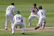 Keaton Jennings (Durham County Cricket Club) is caught by Alex Z Lees off the bowling of Adil U Rashid (Yorkshire CCC) during the LV County Championship Div 1 match between Durham County Cricket Club and Yorkshire County Cricket Club at the Emirates Durham ICG Ground, Chester-le-Street, United Kingdom on 30 June 2015. Photo by George Ledger.