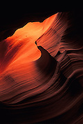 Image of sandstone detail in Antelope Canyon at Slot Canyon in Arizona, American Southwest, Antelope Canyon-Lake Powell Navajo Tribal Park