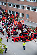 SUNDSVALL, SWEDEN - MAY 19: Fans of Ostersunds FK arrives to the arena ahead of the Allsvenskan match between GIF Sundsvall and Ostersunds FK at Idrottsparken on May 19, 2018 in Sundsvall, Sweden. Photo: Nils Petter Nilsson/Ombrello ***BETALBILD***