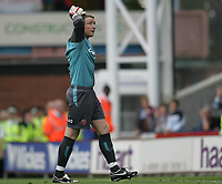 Photo: Lee Earle.<br /> Crystal Palace v Sheffield United. Coca Cola Championship. 22/09/2007. United keeper Paddy Kenny looks dejected after Palace are awarded a penalty.