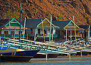 Houses and boats, Papagaran island, Komodo National Park