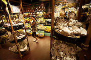 Singapore Zoo. White plush tigers at souvenir shop.