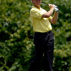 Apr 29, 2012; Avondale, LA, USA; Ernie Els tees off on the second hole during the final round of the Zurich Classic of New Orleans at TPC Louisiana. Mandatory Credit: Derick E. Hingle-US PRESSWIRE