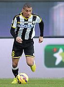 Udine, 15 febbraio 2015<br /> Serie A 2014/15. 23^ giornata.<br /> Stadio Friuli.<br /> Udinese vs Lazio<br /> Nella foto: il centrocampista dell'Udinese Marques Loureiro Allan.<br /> © foto di Simone Ferraro