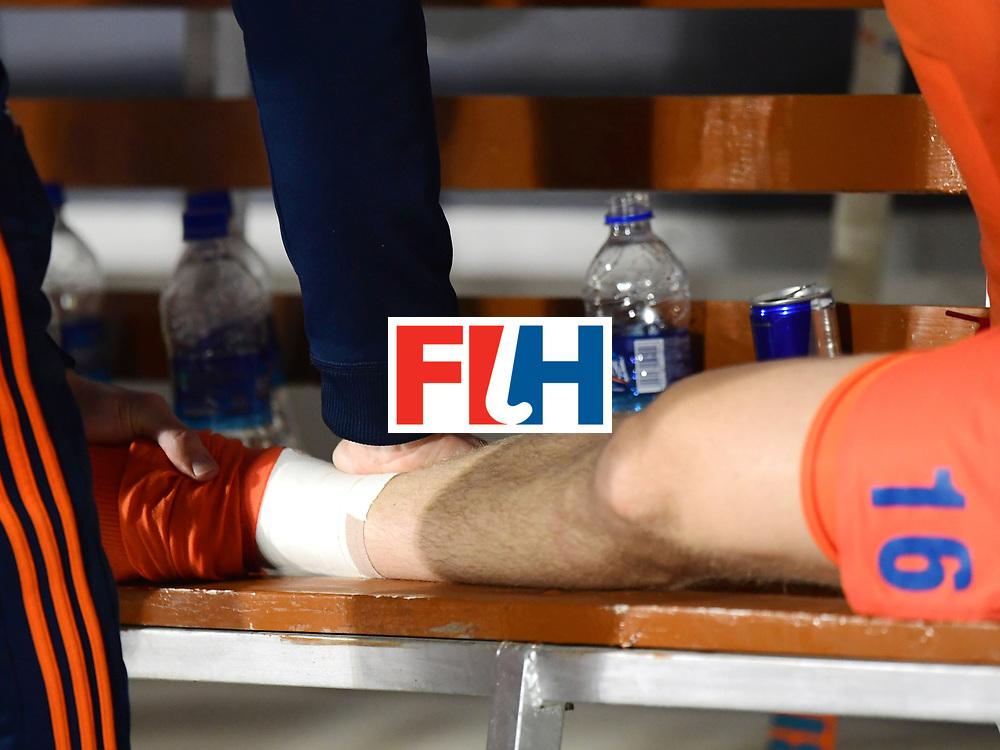 Odisha Men's Hockey World League Final Bhubaneswar 2017<br /> Match id:08<br /> Netherlands v Argentina<br /> Foto: Mirco Pruijser (Ned) get a massage<br /> WORLDSPORTPICS COPYRIGHT FRANK UIJLENBROEK