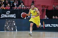 Basketball  1. Bundesliga  2017/2018  Hauptrunde  16. Spieltag  30.12.2017 Walter Tigers Tuebingen - MHP RIESEN Ludwigsburg Jared Jordan (Tigers) mit Ball