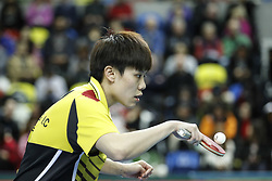 February 23, 2018 - London, England, United Kingdom - Ching I CHENG of Chinese Taipei during ITTF Team World Cup match between Ching I CHENG of Chinese Taipei and Song I KIM of DPR Korea, Quarter Finals Women doubles match on February 23, 2018 in Copper Box Arena, Olympic Park, London. (Credit Image: © Dominika Zarzycka/NurPhoto via ZUMA Press)