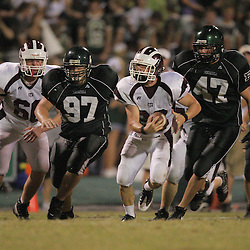 27 August 2009: During the annual Ponchatoula Football Jamboree featuring high schools from Ponchatoula, St. Thomas Aquinas, Hammond and Springfield at The Swamp in Ponchatoula, Louisiana.