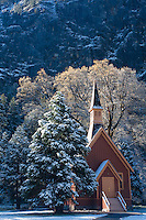 Scenic image of the church in Yosemite Valley. Yosemite National Park.