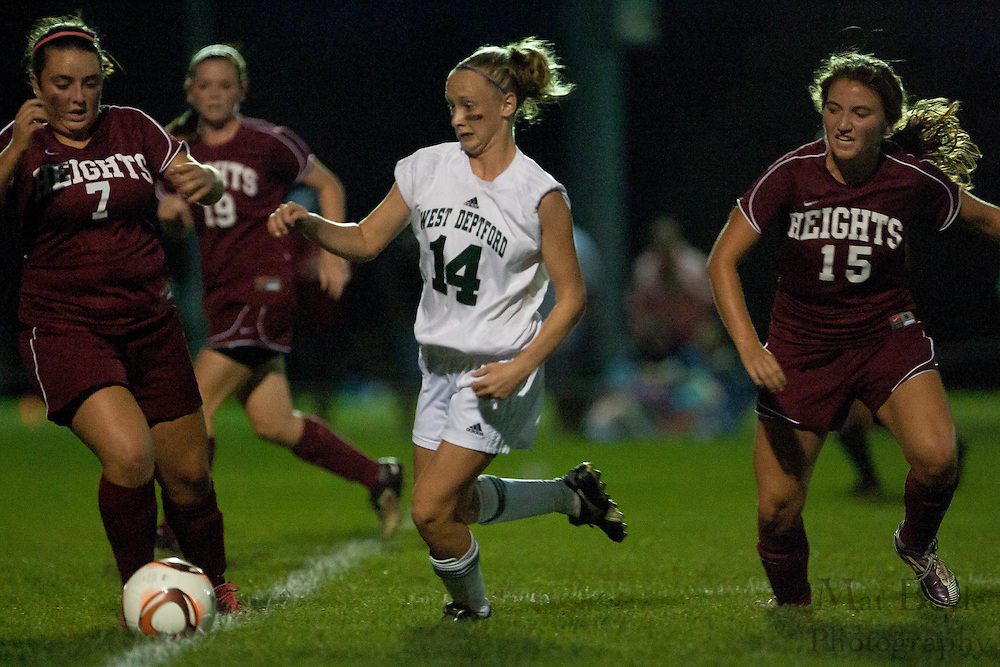 West Deptford High School girls soccer host Haddon Heights for a night game at West Deptford Park on Tuesday September 27, 2011.