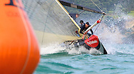 NEW ZEALAND, Auckland, 11th February 2009, Louis Vuitton Pacific Series, Challenger Final Race 2, Alinghi vs BMW Oracle Racing, Alinghi prepare to round the weather mark for the first time