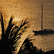 Sunset of Whitesunday passage on Hamilton Island, Queensland<br />